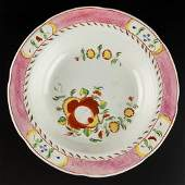 ENGLISH STAFFORDSHIRE POTTERY PEARLWARE KING'S ROSE