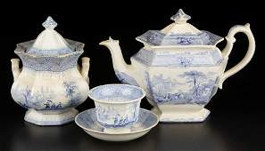 ENGLISH STAFFORDSHIRE IRONSTONE TRANSFERWARE TEAWARE