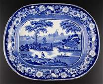 ENGLISH STAFFORDSHIRE POTTERY TRANSFERWARE PLATTER