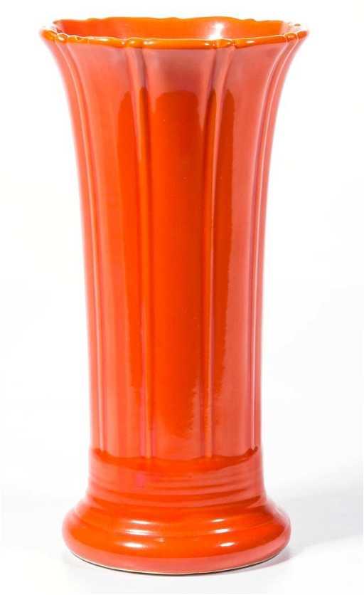 Red Fiesta Ware Vase