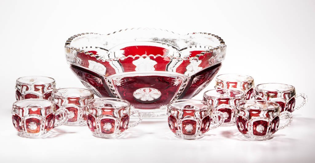 FROST CRYSTAL / PEERLESS (OMN) - RUBY-STAINED TEN-PIECE