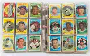 1959 TOPPS BASEBALL CARDS NEAR SET OF 514
