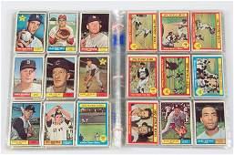 1961 TOPPS BASEBALL CARDS NEAR SET OF 513