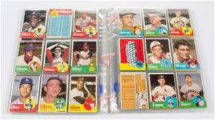 1963 TOPPS BASEBALL CARDS PARTIAL SET OF 420