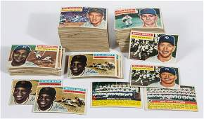 1956 TOPPS BASEBALL CARDS PARTIAL SET OF 139