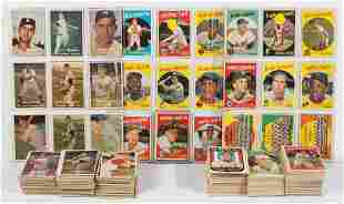 1957 AND 1959 TOPPS BASEBALL CARDS PARTIAL SETS