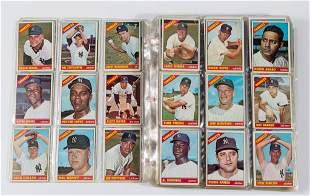 1966 TOPPS BASEBALL CARDS NEAR SET OF 516
