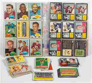 ASSORTED 1950'S AND 1960'S TOPPS FOOTBALL CARDS PARTIAL