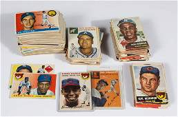 1953, 1954, AND 1955 TOPPS BASEBALL CARDS PARTIAL SETS