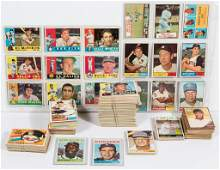 1960'S TOPPS BASEBALL CARDS PARTIAL SETS