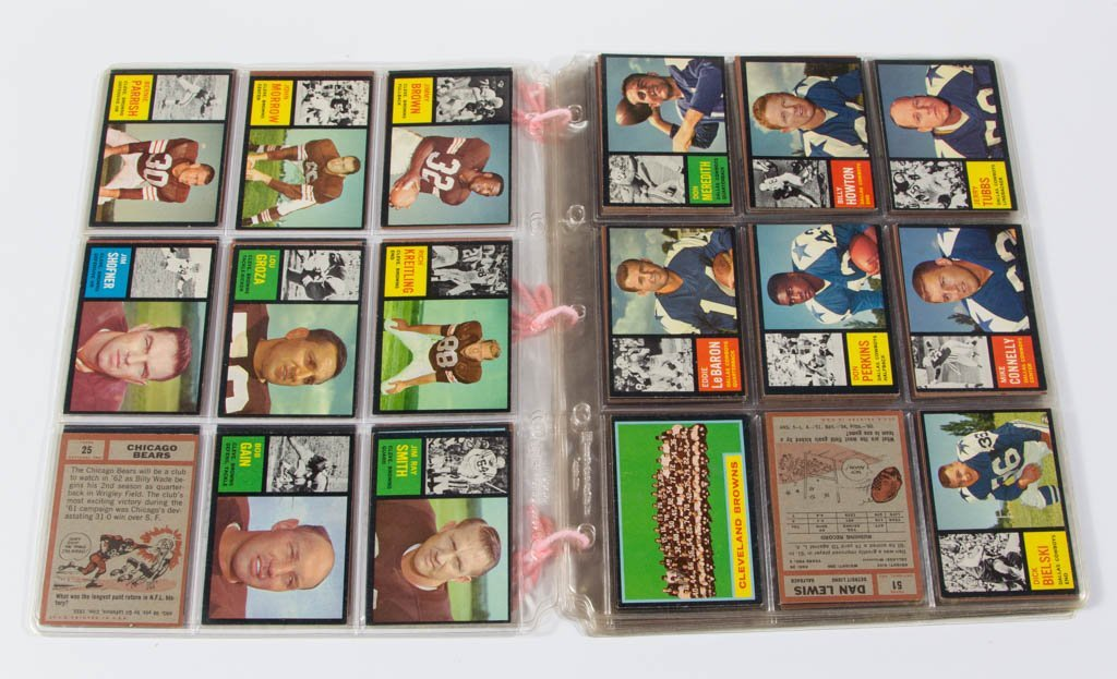1962 TOPPS PRO FOOTBALL CARDS PARTIAL SET