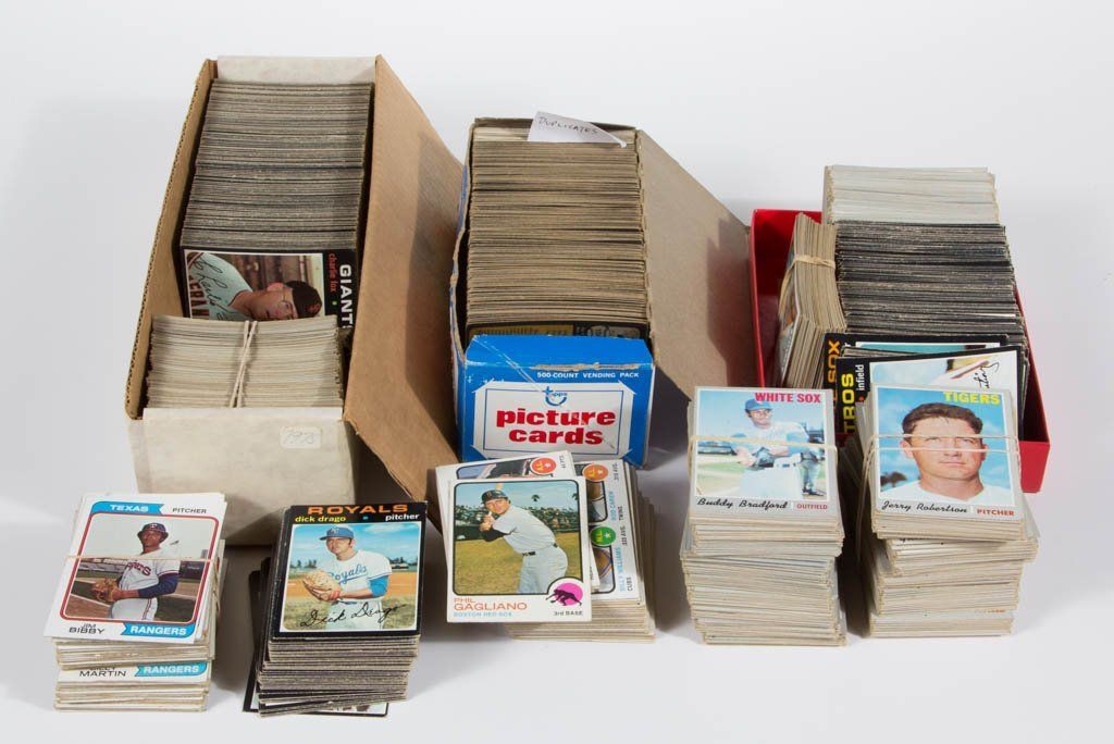 1970'S TOPPS BASEBALL CARDS PARTIAL SETS