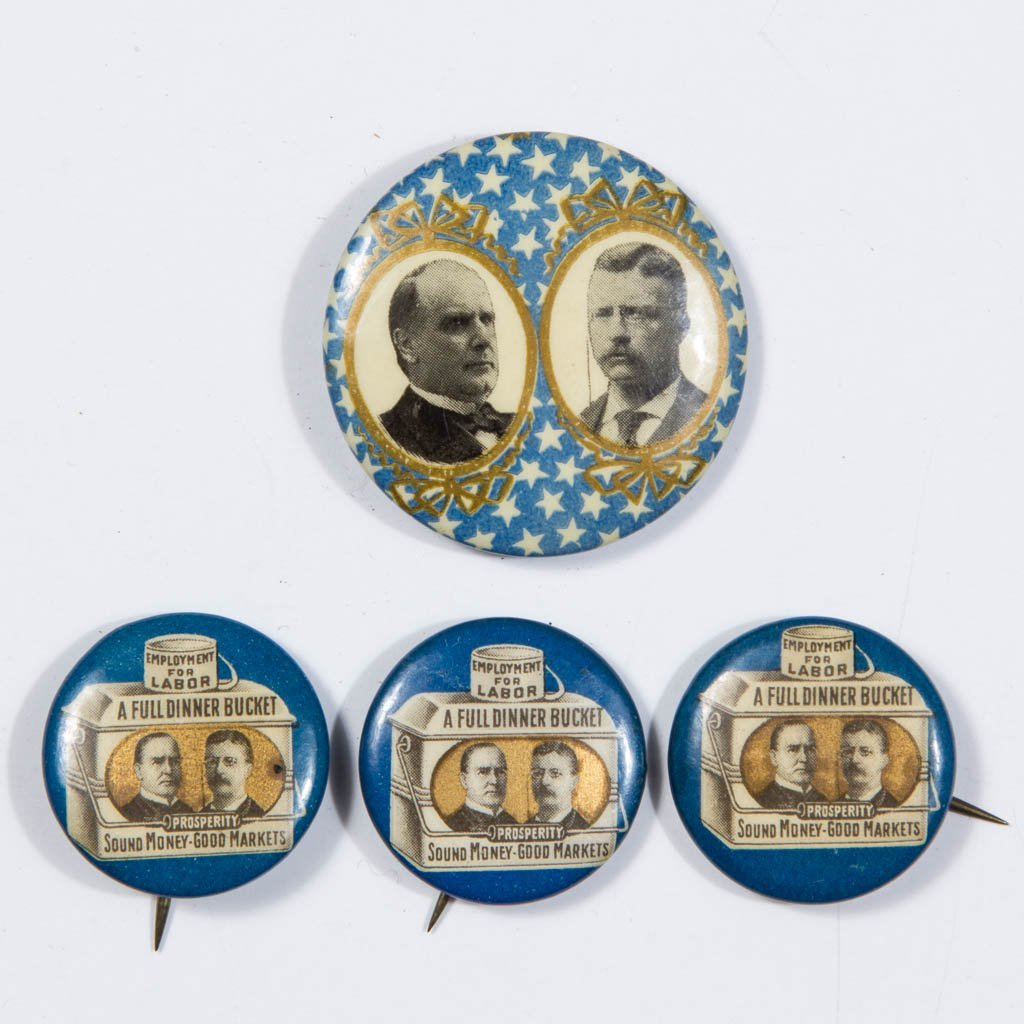 MCKINLEY / ROOSEVELT PRESIDENTIAL CAMPAIGN JUGATE