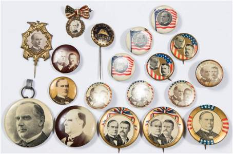 ASSORTED MCKINLEY / ROOSEVELT POLITICAL CAMPAIGN