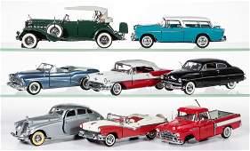 DANBURY MINT SCALE MODEL CARS, LOT OF EIGHT