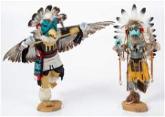NATIVE AMERICAN CARVED AND PAINTED KACHINA DOLLS, LOT
