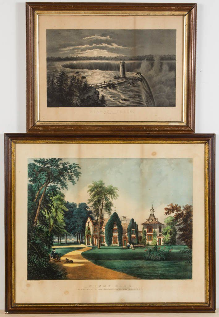CURRIER AND IVES NEW YORK STATE LANDSCAPE PRINT