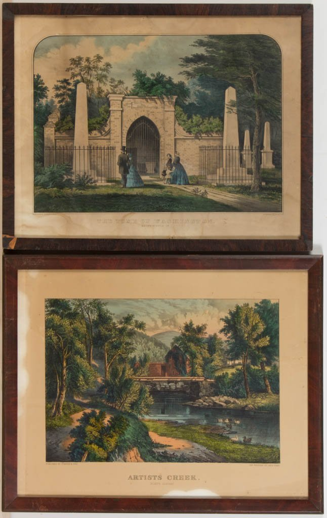 CURRIER AND IVES LANDSCAPE PRINTS, LOT OF TWO
