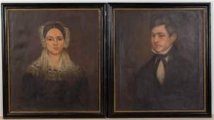 PAIR OF AMERICAN SCHOOL (19TH CENTURY) PORTRAITS