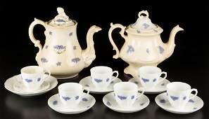ENGLISH STAFFORDSHIRE POTTERY SPRIG-APPLIED TEA