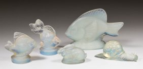 Sabino Opalescent Figurines, Lot Of Five