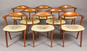 Set Of Eight Danish Mid-century Modern Teak Dining