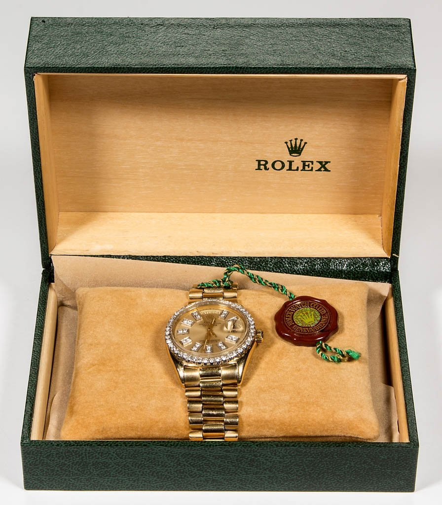 ROLEX DATEJUST PRESIDENT 1803 18K GOLD AND DIAMOND