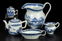 CHINESE EXPORT BLUE AND WHITE CANTON / NANKING