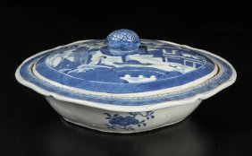 Chinese Export Canton Porcelain Covered Dish