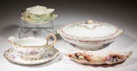 French Limoges Haviland Floral Porcelain Table