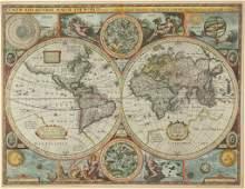 JOHN SPEED (BRITISH, 1552-1629) MAP OF THE WORLD