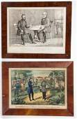 CURRIER  IVES CIVIL WAR HISTORICAL PRINTS LOT OF TWO