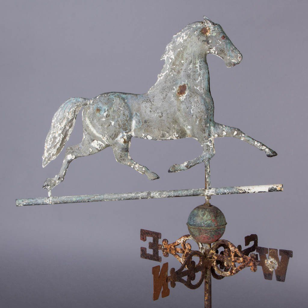AMERICAN MOLDED-COPPER FOLK ART RUNNING HORSE
