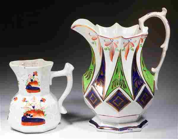 ENGLISH AND WELSH CERAMIC PITCHERS, LOT OF TWO