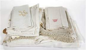 ASSORTED TABLE LINENS, LOT OF 23