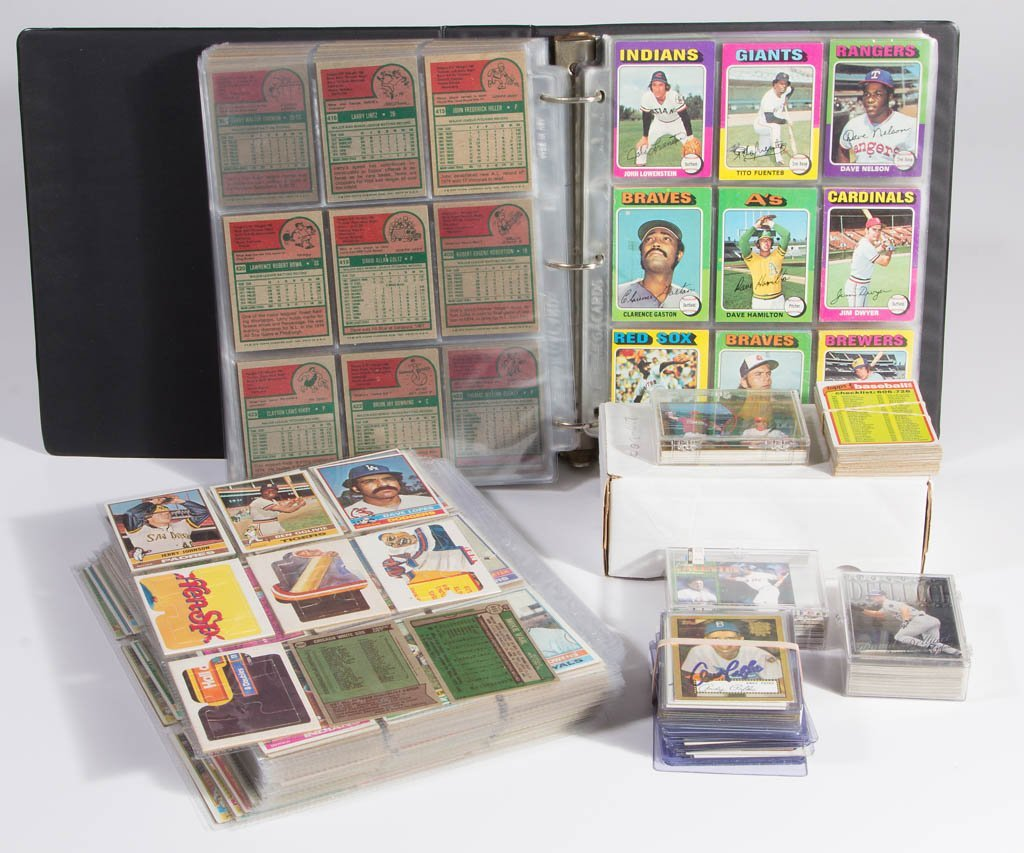 ASSORTED 1970'S TOPPS BASEBALL CARDS, PARTIAL SETS, LOT
