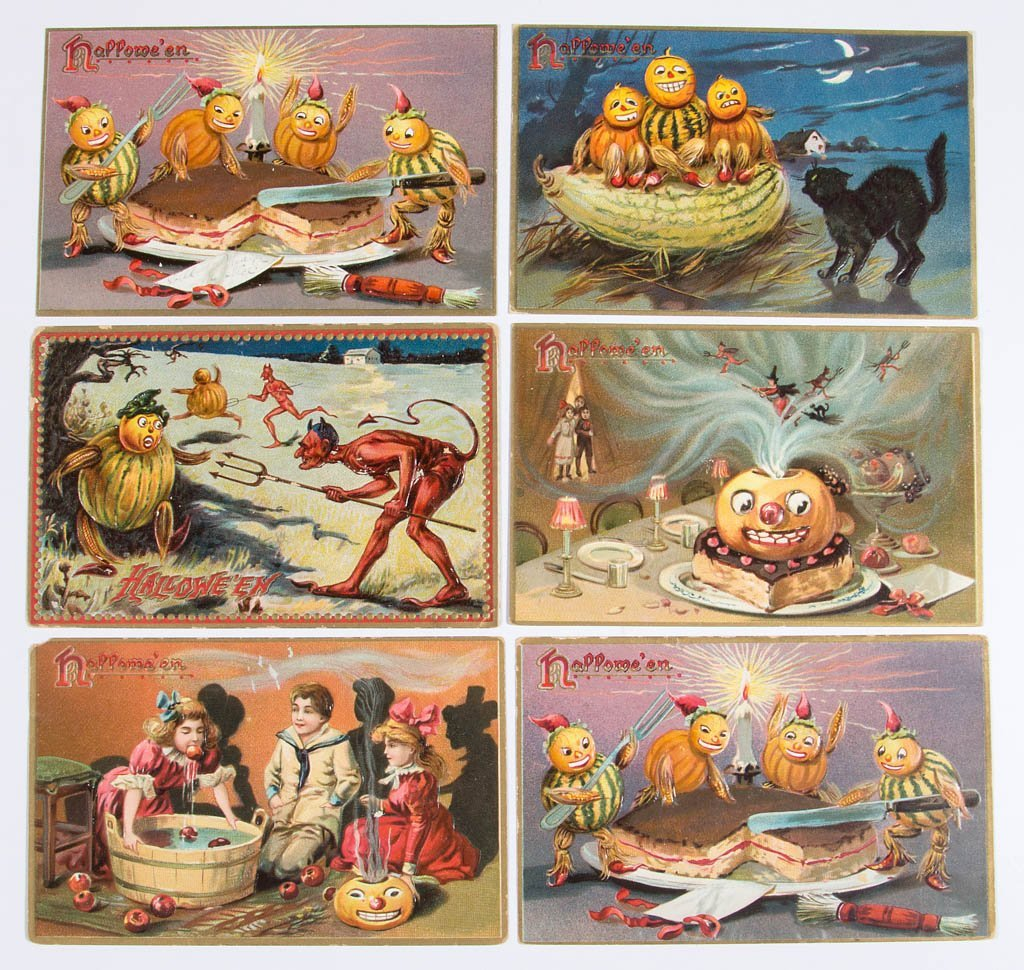 ASSORTED HALLOWEEN POST CARDS, LOT OF 24