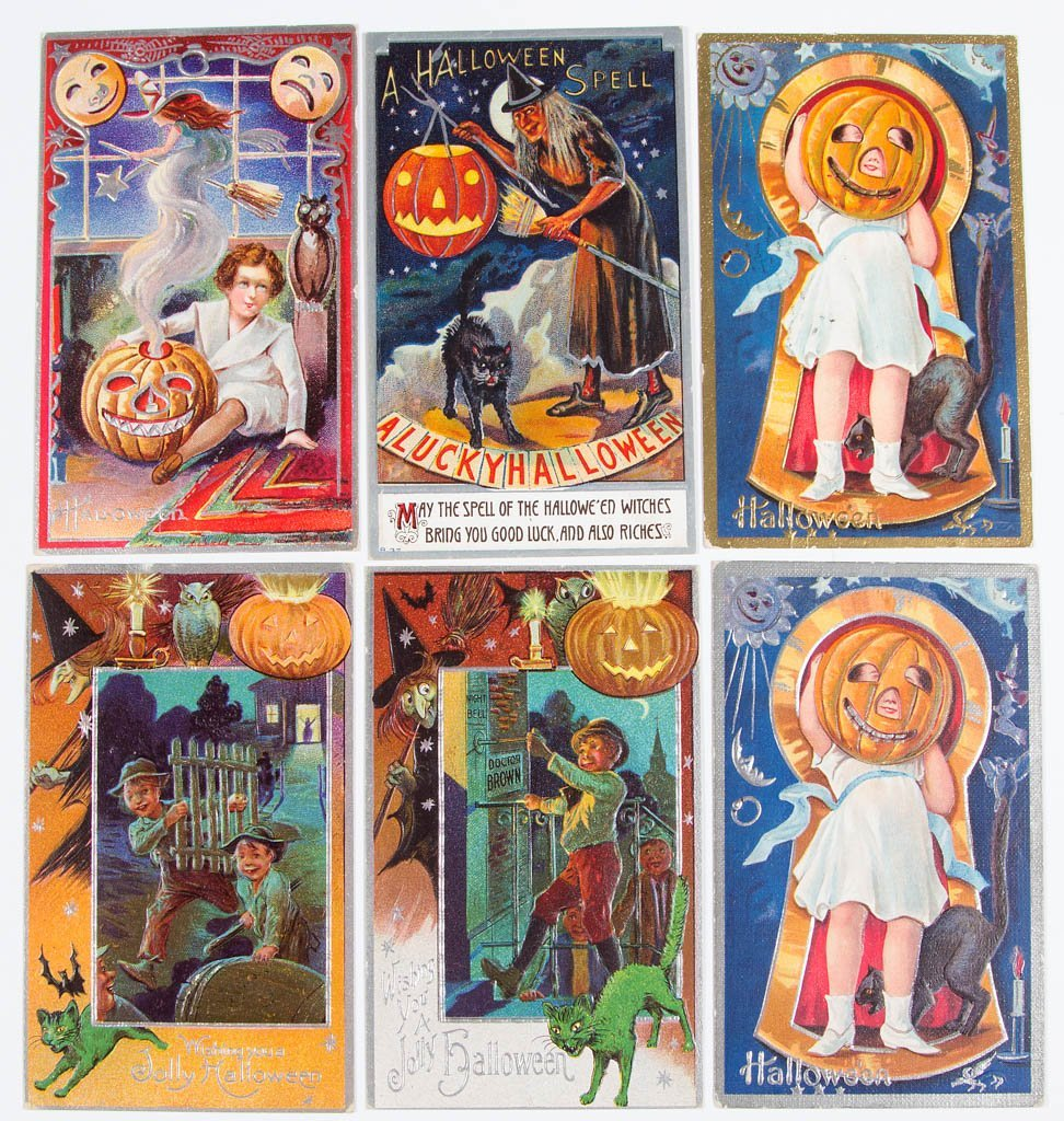 ASSORTED HALLOWEEN POST CARDS, LOT OF 24 - 2