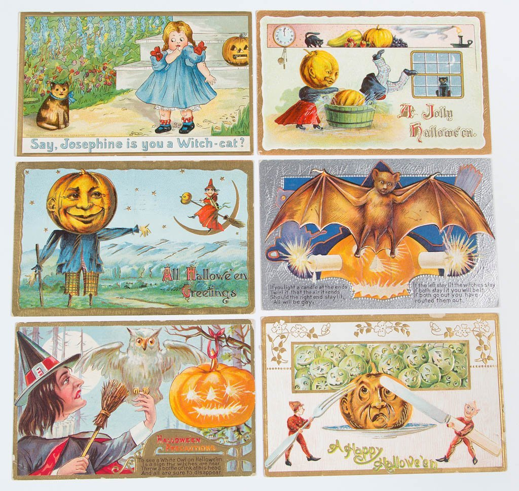 ASSORTED HALLOWEEN POST CARDS, LOT OF 24 - 3