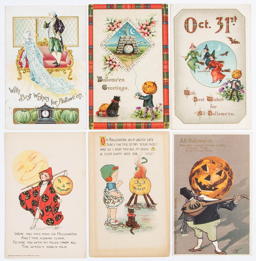 ASSORTED HALLOWEEN POST CARDS, LOT OF 24 - 4
