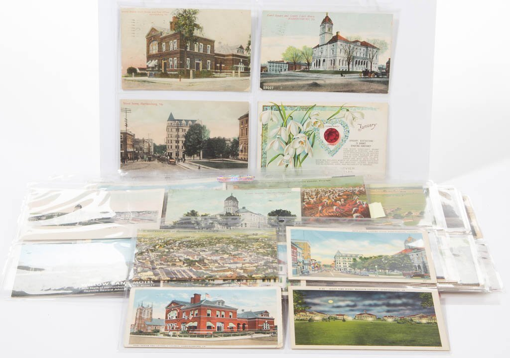 SHENANDOAH VALLEY OF VIRGINA POST CARDS, LOT OF 83