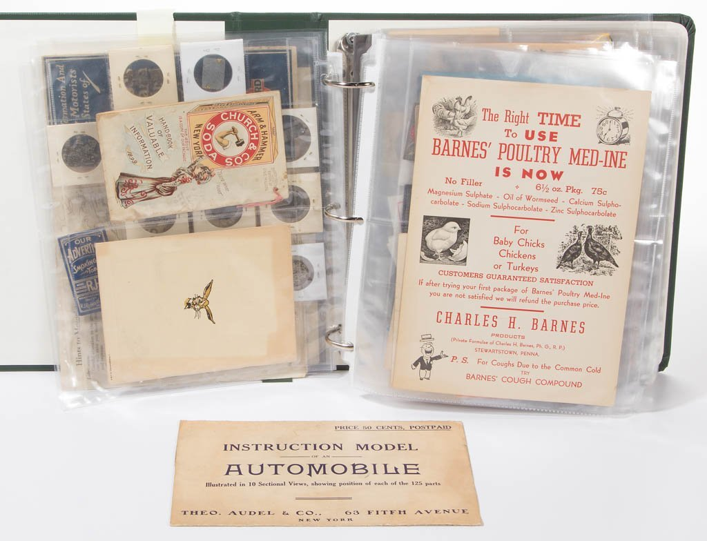 ASSORTED ADVERTISING EPHEMERA, 80+ PIECES