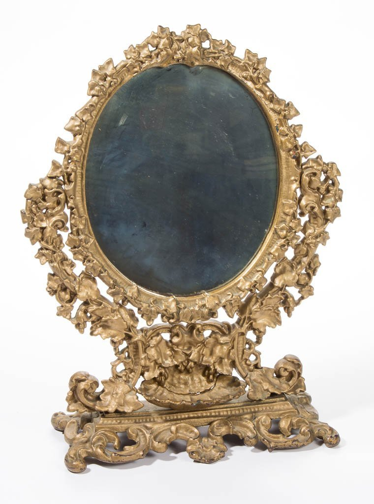 AMERICAN CAST-IRON SHAVING / DRESSING MIRROR