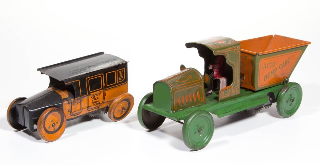 AMERICAN TIN LITHOGRAPH WIND-UP AUTO TOYS, LOT OF TWO - 2