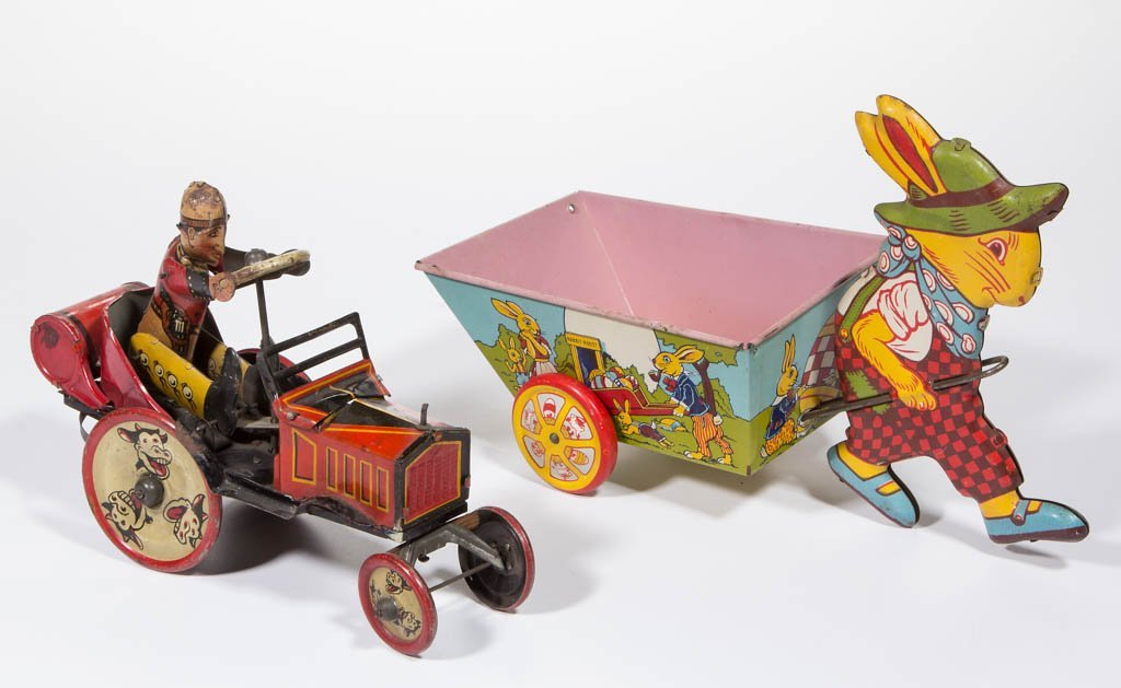 AMERICAN TIN LITHOGRAPH TOYS, LOT OF TWO
