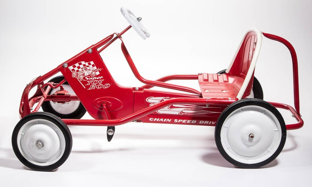 MURRAY SUPER TOT ROD PRESSED-STEEL PEDAL CAR