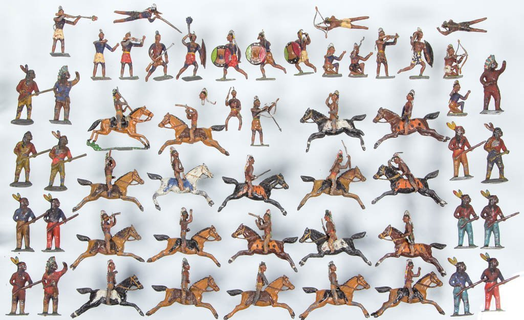 CAST-LEAD NATIVE AMERICAN TOY SOLDIERS