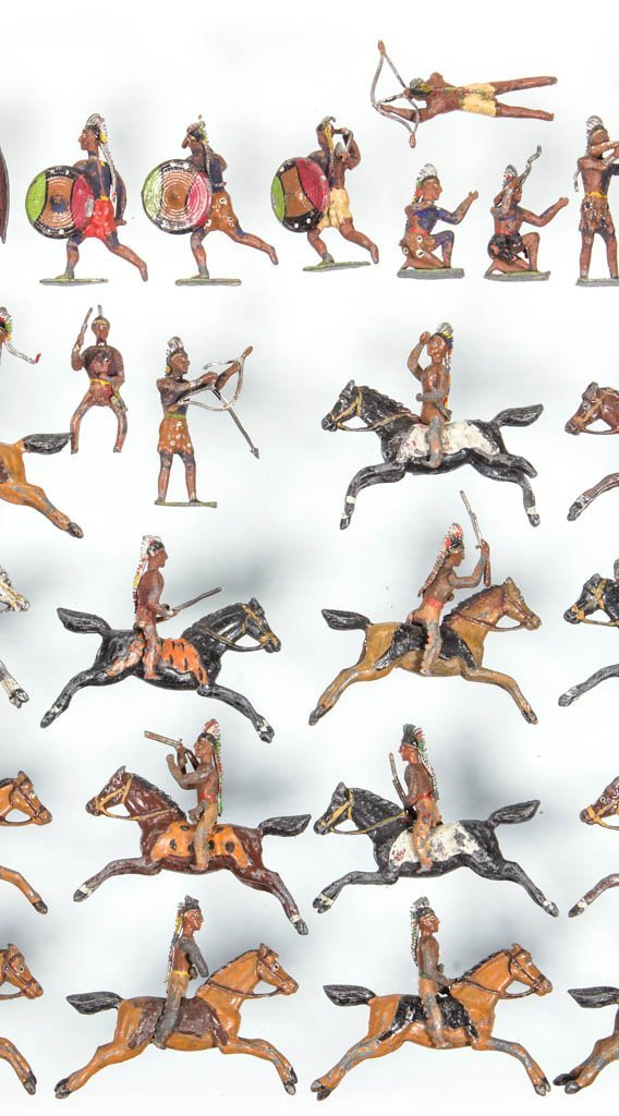CAST-LEAD NATIVE AMERICAN TOY SOLDIERS - 3