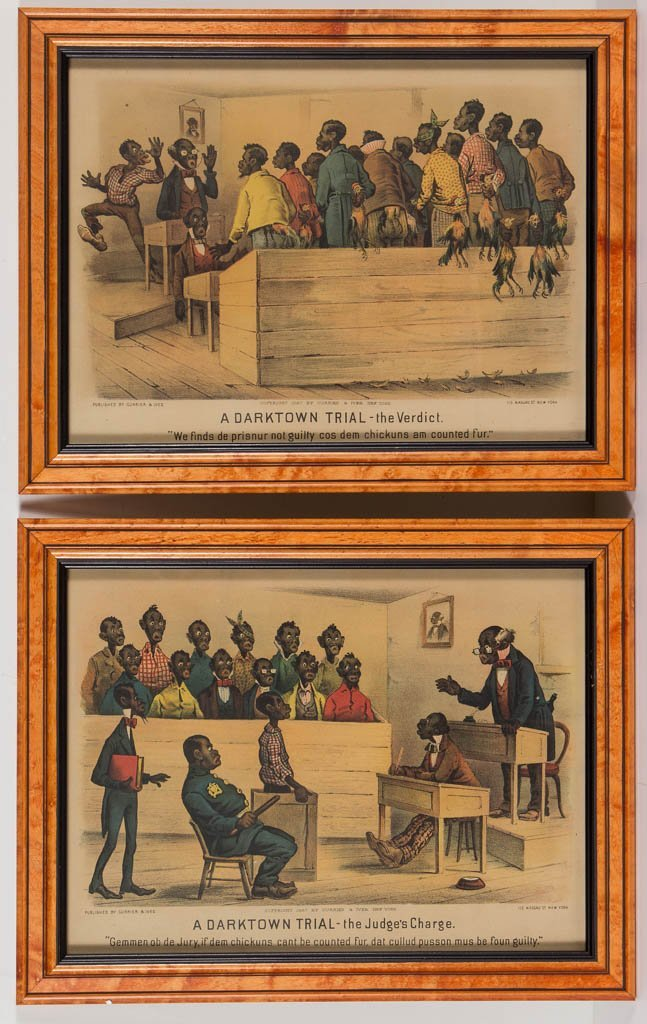 PAIR OF CURRIER & IVES BLACK AMERICANA PRINTS