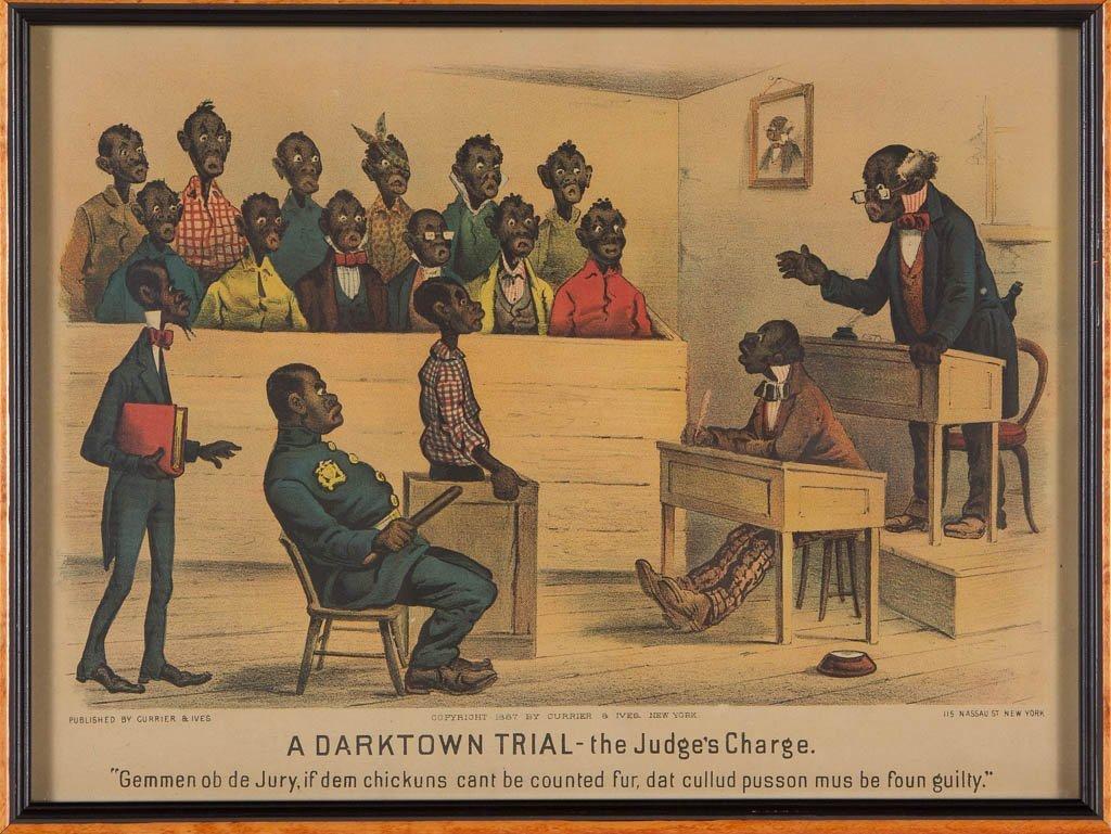 PAIR OF CURRIER & IVES BLACK AMERICANA PRINTS - 3